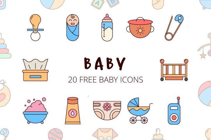 Baby Vector Free Icon Set