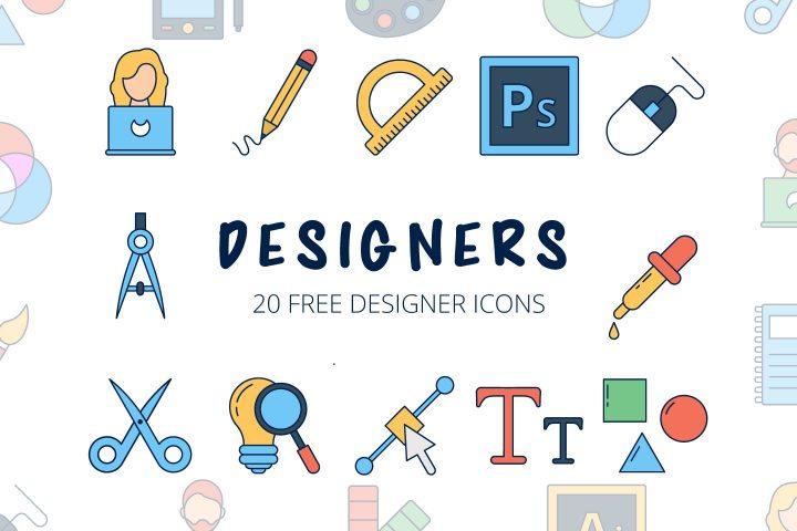 Designers Vector Free Icon Set