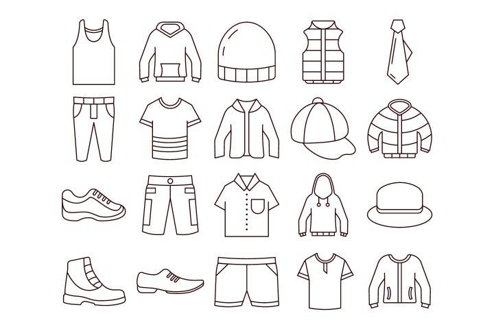 Men's Clothing Vector Free Icon Set
