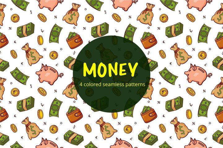 Money Vector Free Seamless Pattern