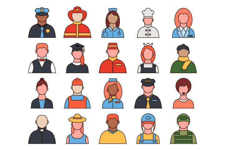 Professions Vector Free Icon Set
