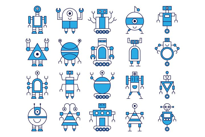 Robot Vector Free Icon Set
