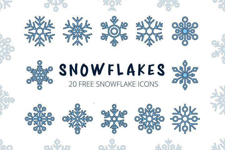 Snowflakes Vector Free Icon Set