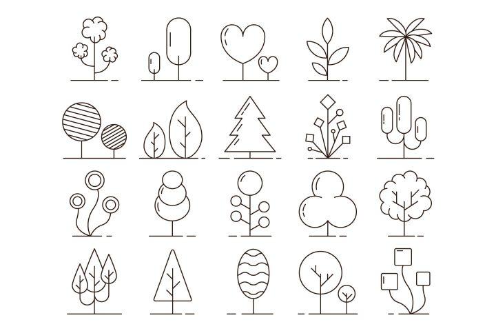 Trees Vector Free Icon Set