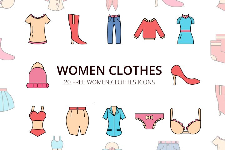 Women Clothes Vector Free Icon Set