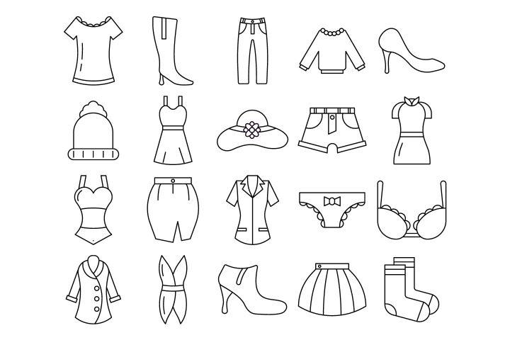 Women Clothes Vector Free Icon Set