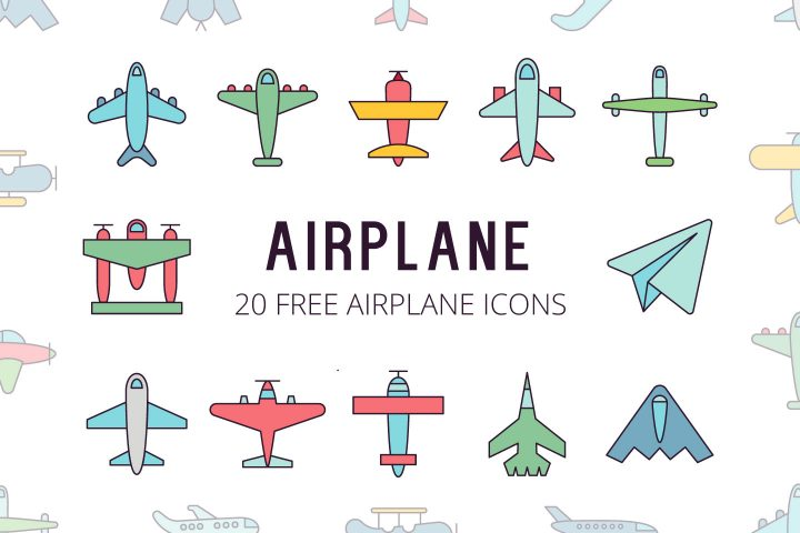Airplane Vector Free Icon Set