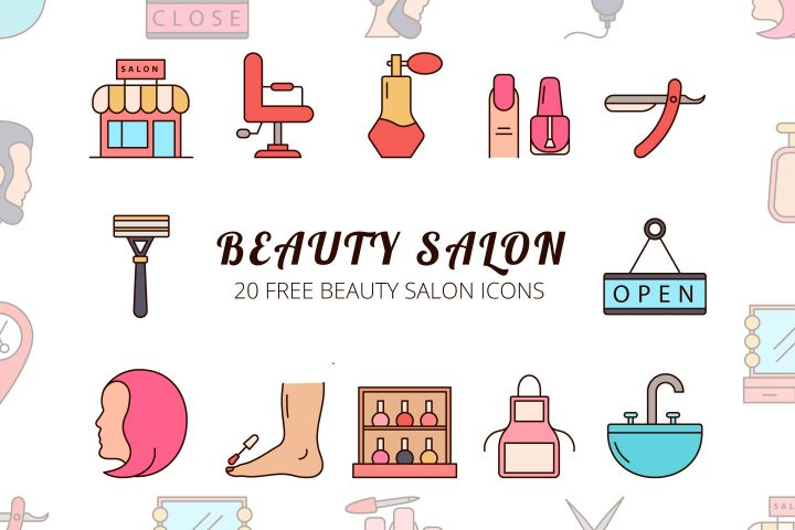 Beauty Salon Vector Free Icon Set