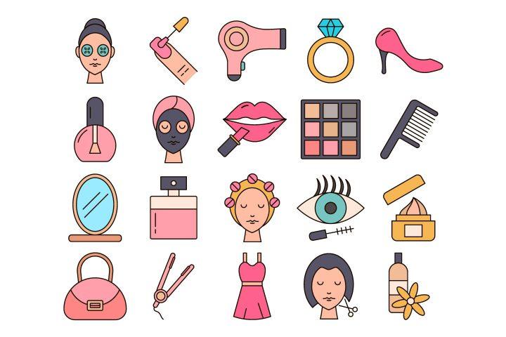 Beauty Vector Free Icon Set