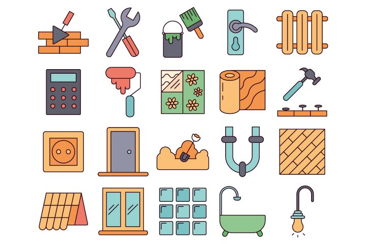 Construction Service Vector Free Icon Set