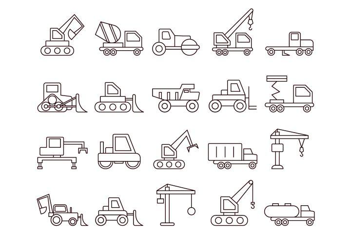 Construction Technics Vector Free Icon Set