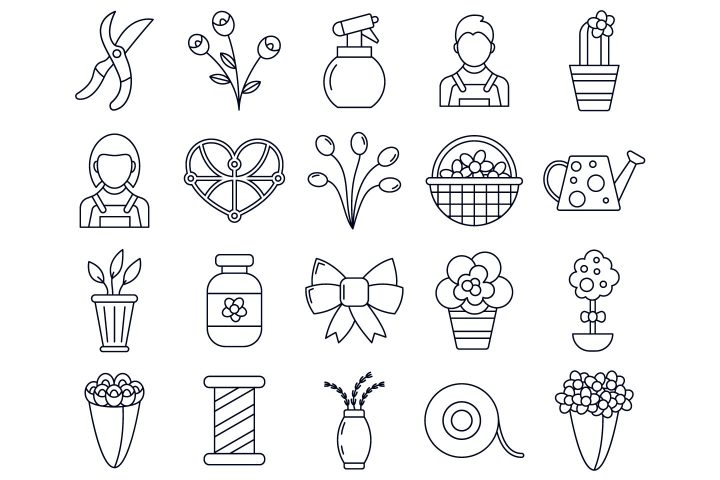 Floristic Vector Free Icon Set