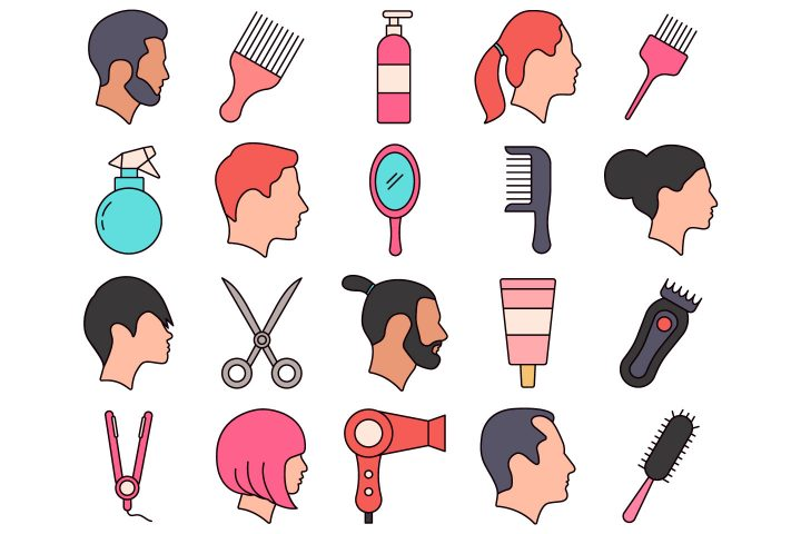 Hairdresser Vector Free Icon Set
