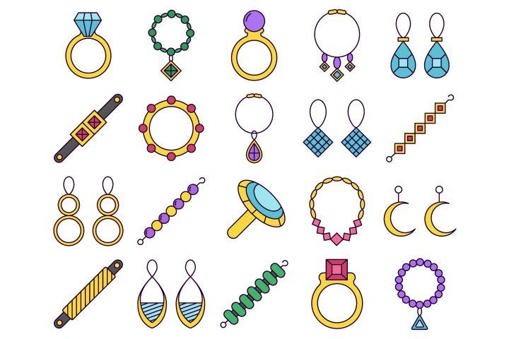 Jewelry Vector Free Icon Set