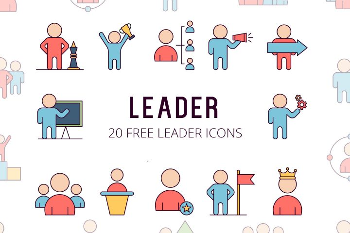 Leader Vector Free Icon Set