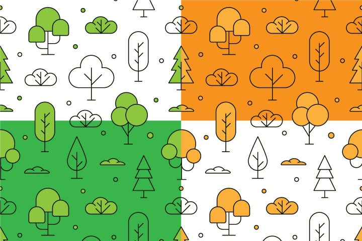 Linear Tree Vector Free Seamless Pattern