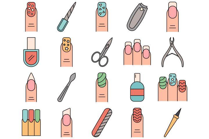 Manicure Vector Free Icon Set