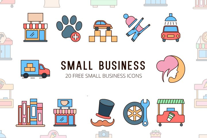 Small Business Vector Free Icon Set