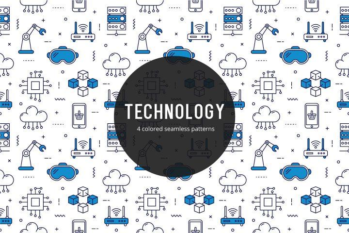 Technology Vector Free Seamless Pattern