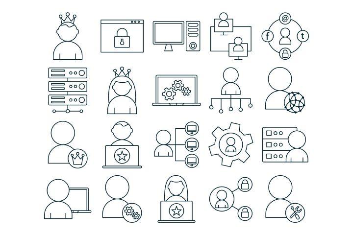 Admin Vector Free Icon Set
