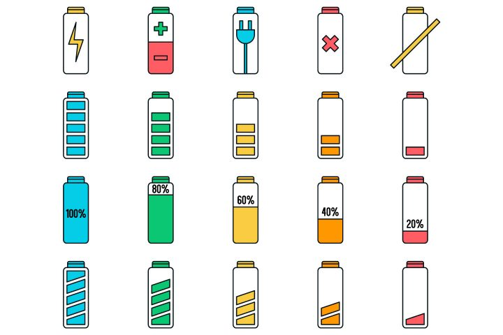 Battery Vector Free Icon Set
