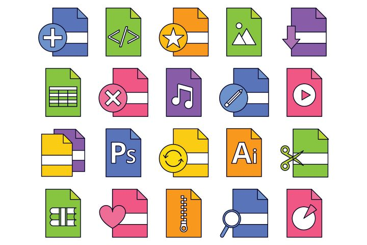 Files Vector Free Icon Set