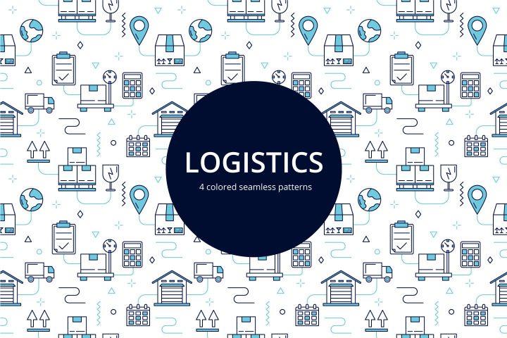 Logistics Vector Free Seamless Pattern