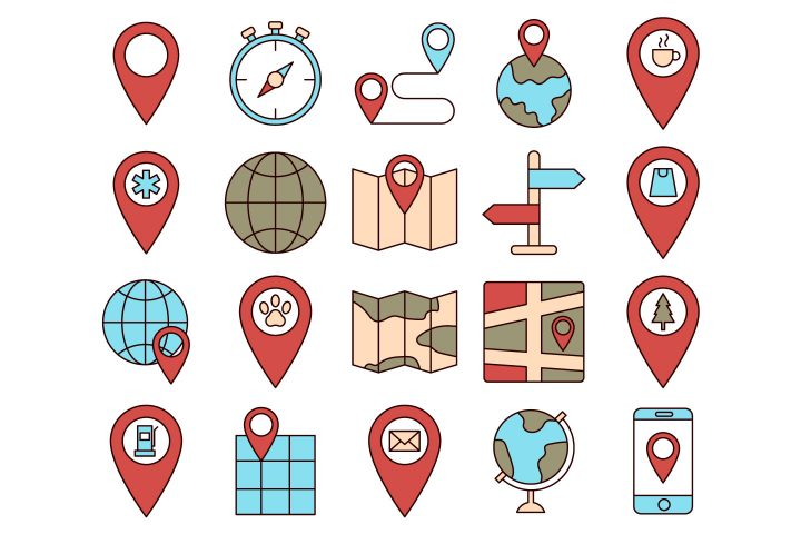 Map Vector Free Icon Set
