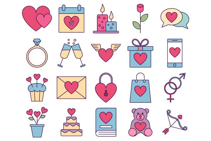Valentines Day Vector Free Icon Set
