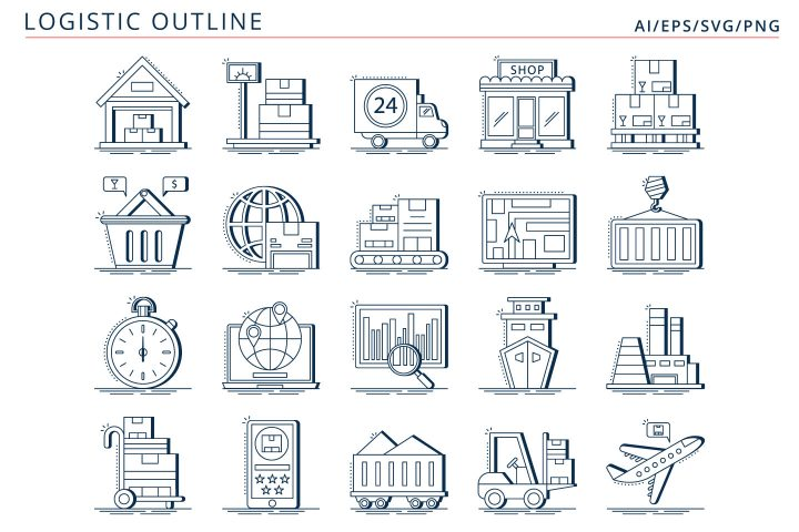 20 Free Logistic Vector Icons