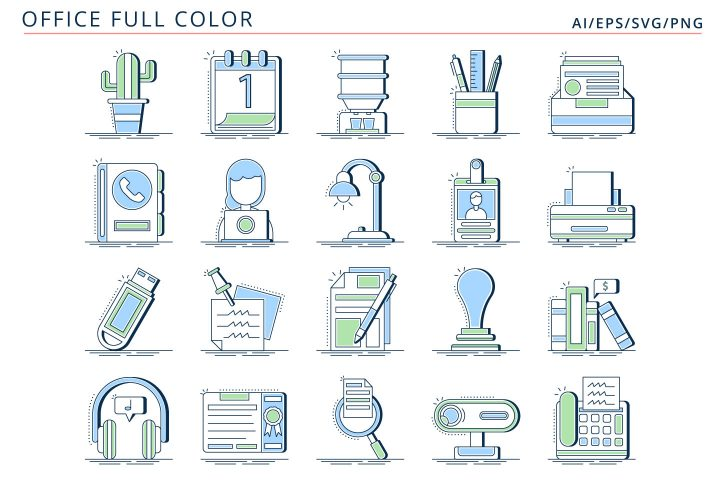 Free 20 Office Vector Icons