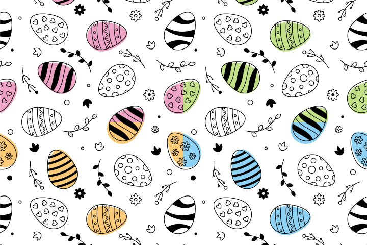 Easter Vector Free Seamless Pattern