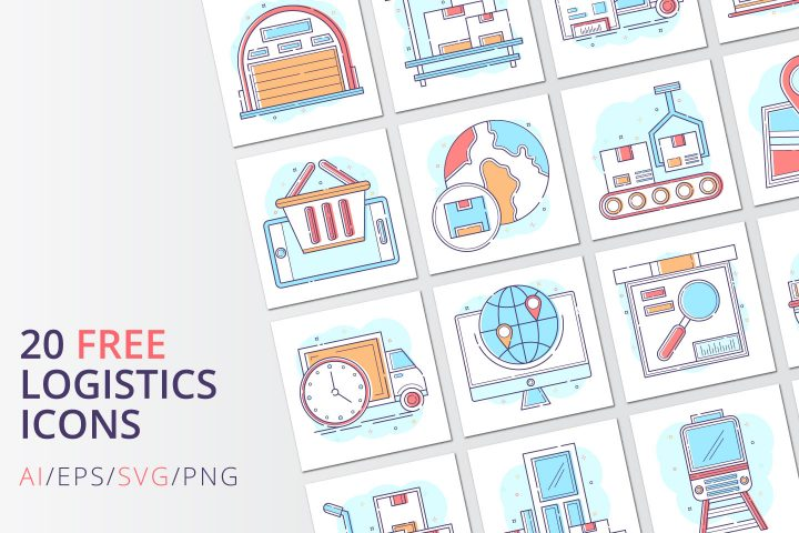Free 20 Logistics Vector Icons