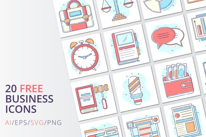 20 Free Business PNG Icons
