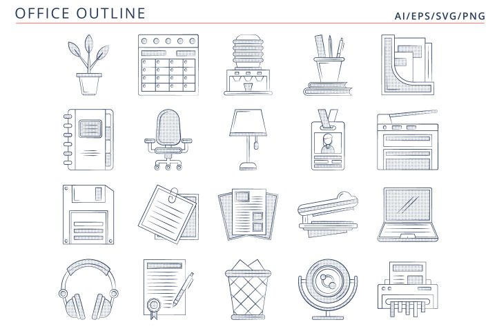 Free 20 Office Vector Icons (AI, EPS, SVG, PNG files)