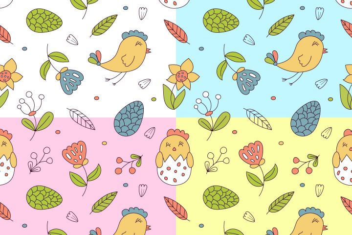 Hello Spring Vector Free Seamless Pattern