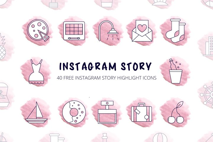 40 Free Instagram Story Highlight Icons
