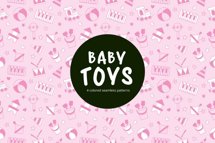 Baby Toy Vector Seamless Free Pattern