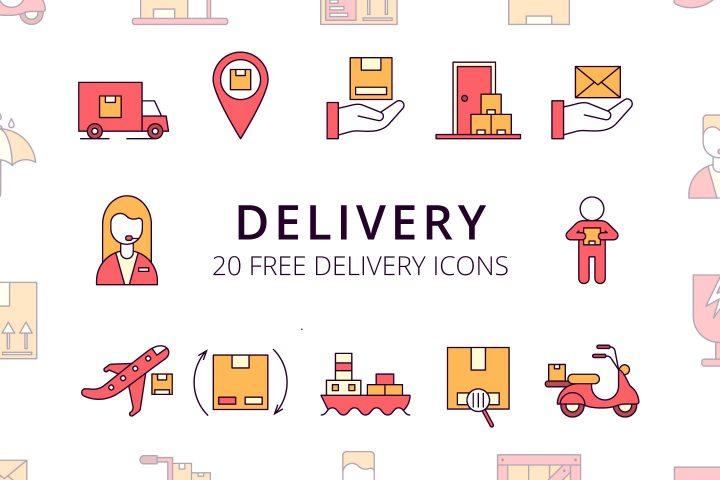 Delivery Vector Free Icon Set