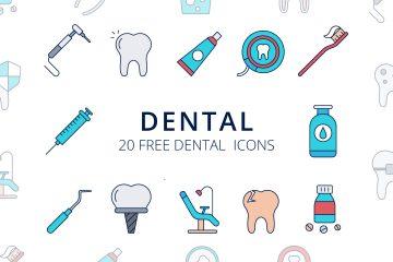 Dental Vector Free Icon Set