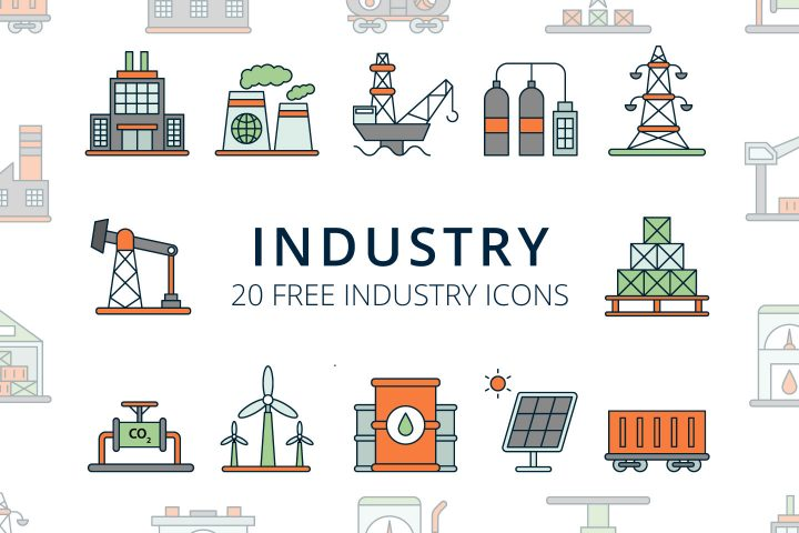 Industry Vector Free Icon Set