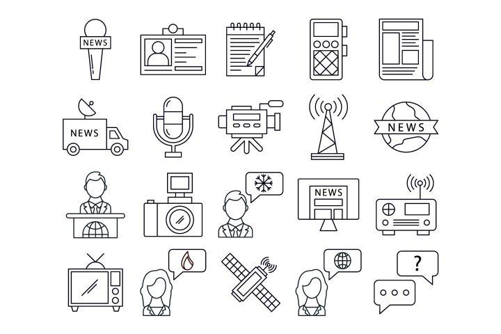 Journalism Vector Free Icon Set