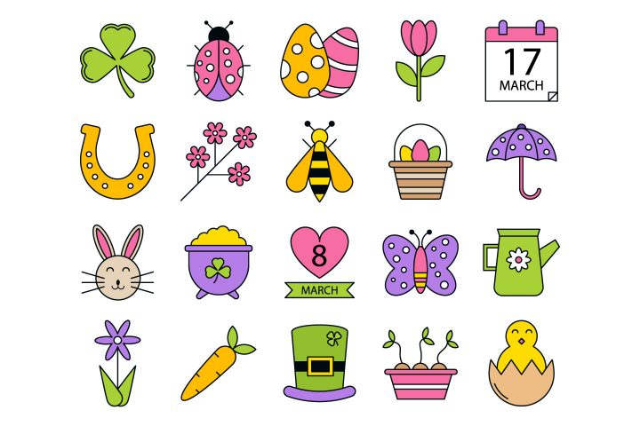 Spring Vector Free Icon Set