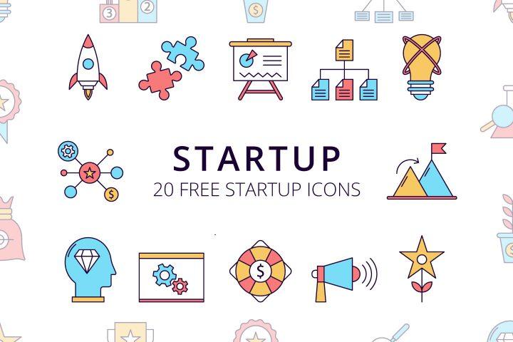 Startup Vector Free Icon Set