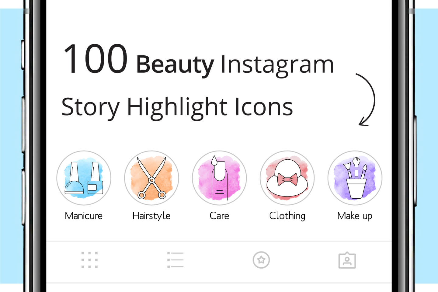 100 Beauty Instagram Story Highlight Icons