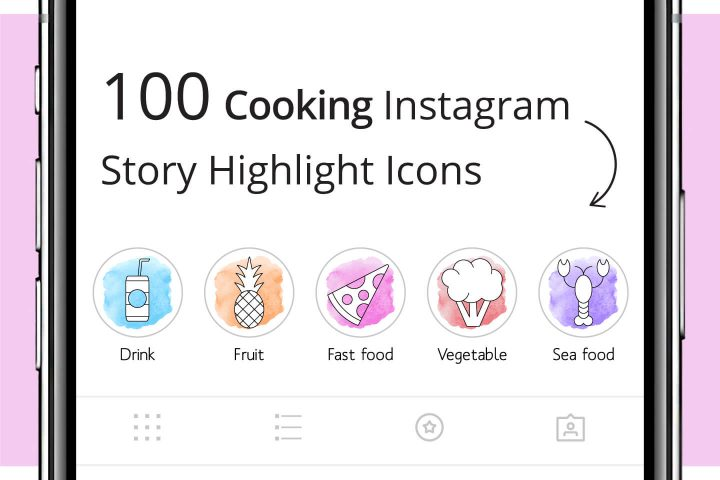 100 Cooking Instagram Story Highlight Icons