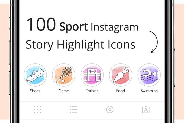 100 Sport Instagram Story Highlight Icons