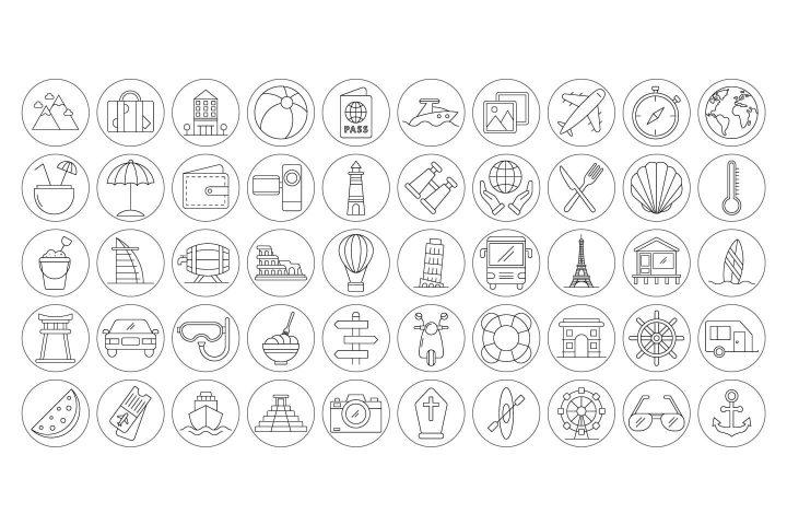 100 Travel Instagram Story Highlight Icons