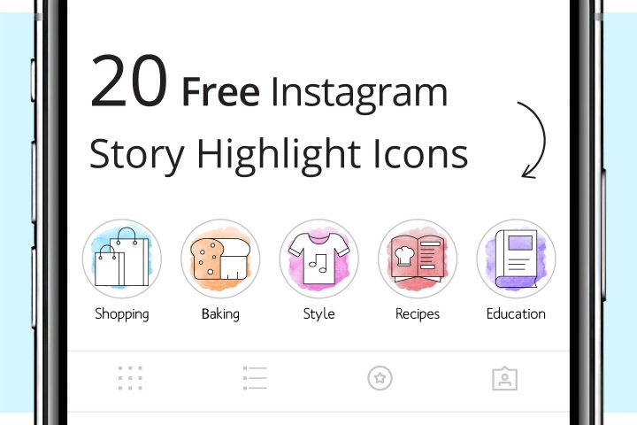 20 Free Instagram Story Highlight Icons