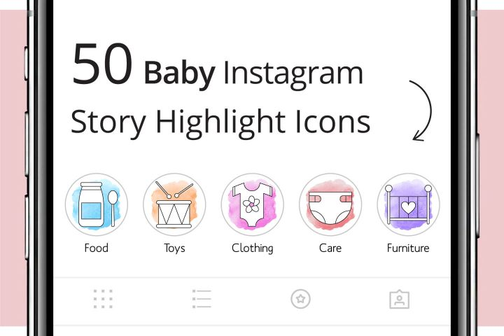 50 Baby Instagram Story Highlight Icons